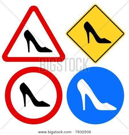 Muestras de calzado femenino