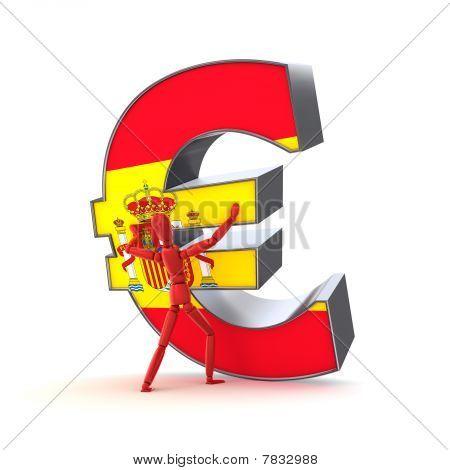 Mantendo-se o Euro - bandeira espanhola
