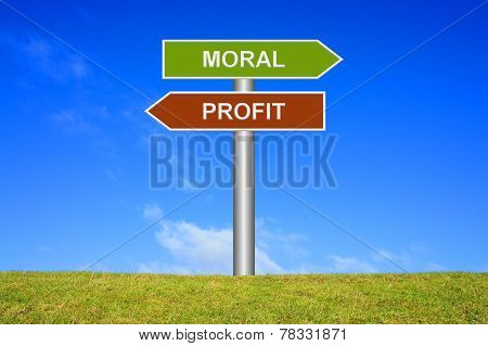 Signs Moral or Profit