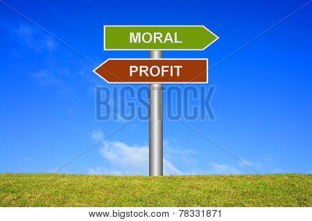 Signs Moral or Profit