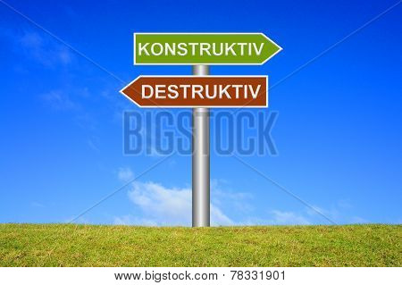Signs constructive or destructive