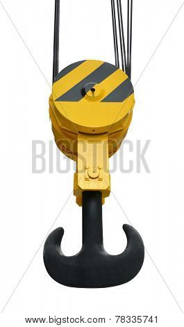 The big lifting hook isolated on white background