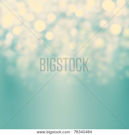 Festive Blur Background With Natural Bokeh And Bright Golden Lights. Abstract Christmas Twinkled Bri