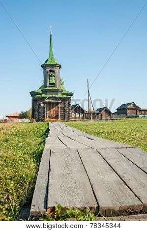 Efsima's and Savvatiya Solovetskikh chapel. Russia