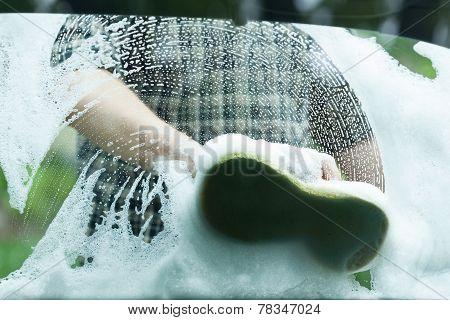 Foam On The Car Window