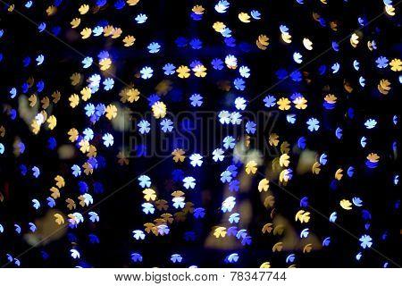Multicolour Bokeh Flower Shape