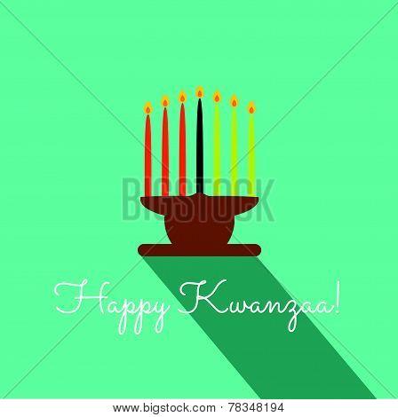 Happy Kwanzaa Christmas Card