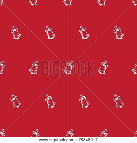 Vector hand drawn bell seamless pattern