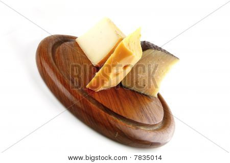 Soft Delicatessen Chesses On Wood