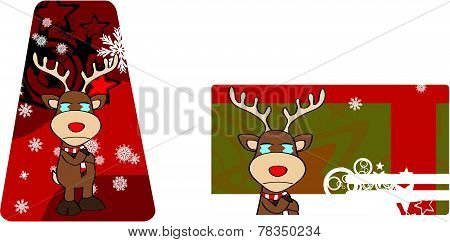 crying reindeer cartoon xmas card