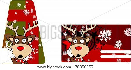 reindeer cartoon giftcard
