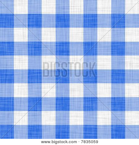 blue picnic cloth