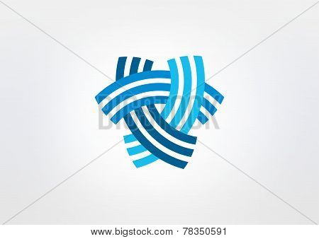abstract triangle corporate vector icon design