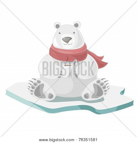 Polar Bear With Coffee