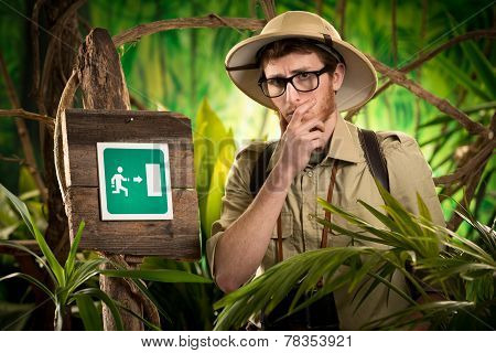Exit Sign In The Wilderness