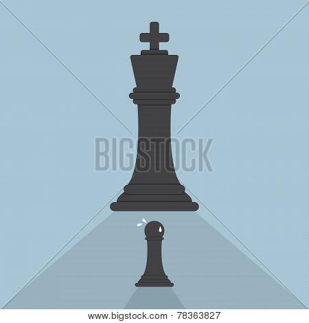 Pawn Chess Afraid Of King Chess