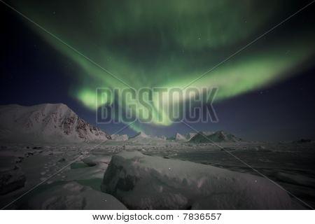 Nordlicht, Spitzbergen