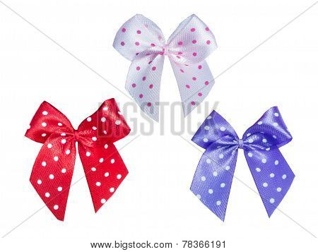 Bow With  Polka Dot Pattern