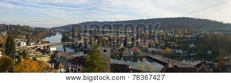Panorama Of The City Of Schaffhausen (switzerland).