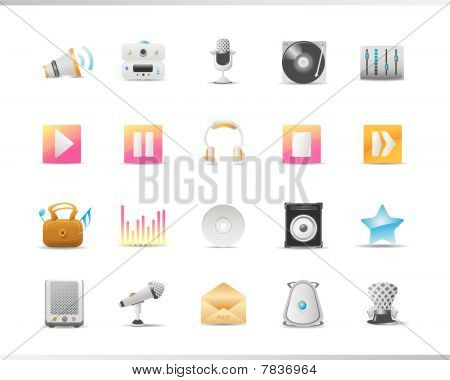Audio and Music, Web Icon Set