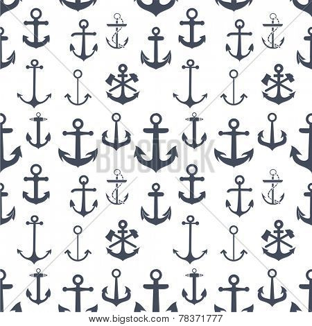 Anchors seamless background