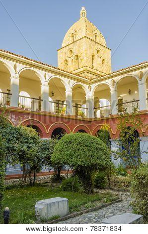 Convent of San Francisco, the cloister - La Paz, Bolivia