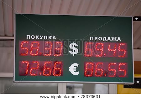 Russian Bank Electronic Panel