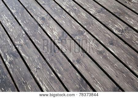 Brown Wet Wooden Pier Floor Background Texture