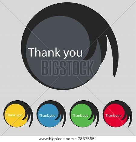 Thank You Sign Icon. Vector