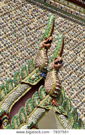 Tile Mosaic Senpent Pattern Thailand Style