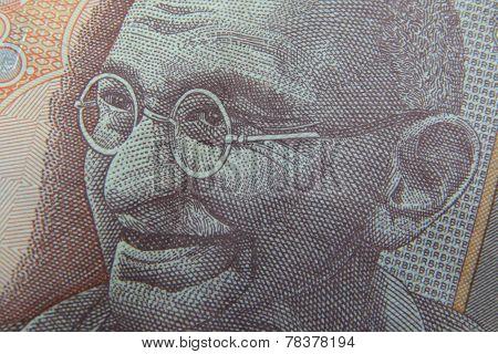 Photo of Mahatma Gandhi on Indian banknote