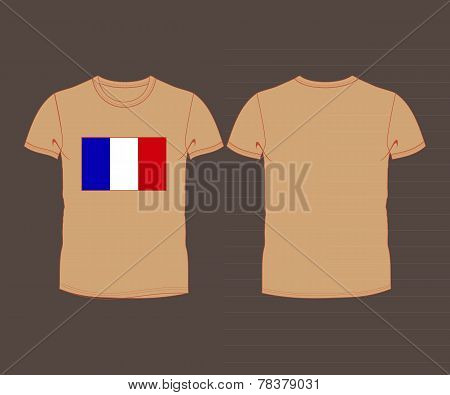 France flag shirt  football soccer ball