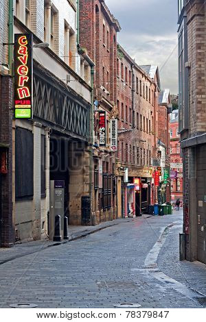 Mathew Street, Liverpool, Uk, Home Of The Cavern Club
