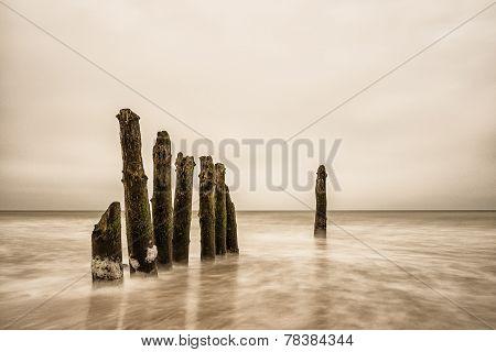 Groynes On Shore