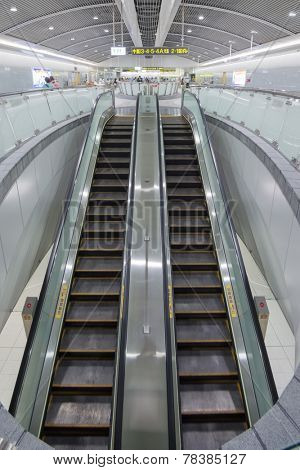 TAIPEI - NOVEMBER 29th : New open Songshan MRT station on November 29th, 2014 in Taipei, Taiwan.