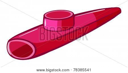 Illustration of a close up kazoo
