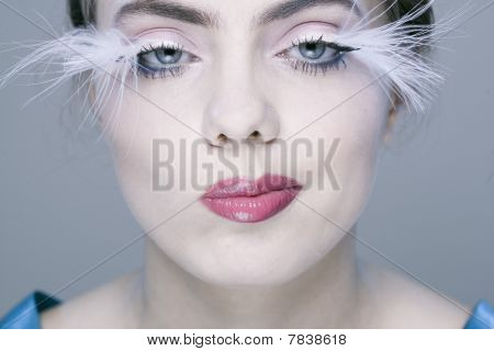 Woman With Long Eyelashes