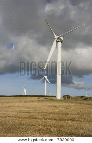 Wind Turbines, Cornwall, Uk