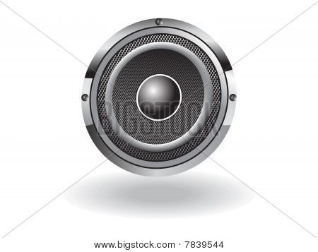 abstract black and white sound vector illustration