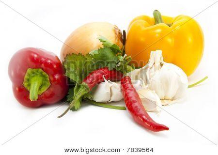 Foodstuff On White