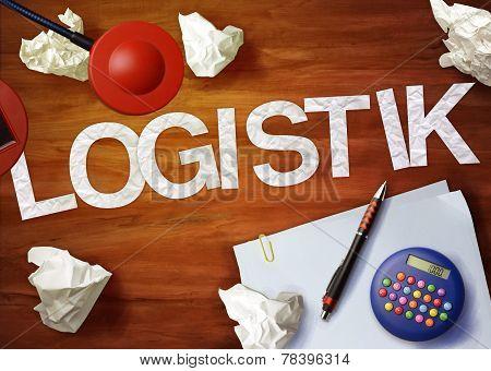 Logistik Desktop Memo Calculator Office Think Organize
