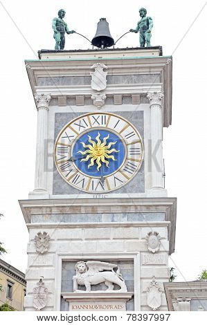 Tower Of Clock In Place Of Freedom, Udine, Italy