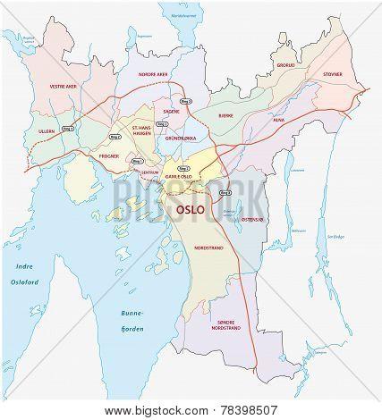 Oslo Road and Neighborhood Map