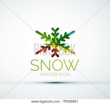 Modern Creative Christmas snowflake company logo design, frost icon