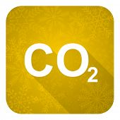 picture of carbon-dioxide  - carbon dioxide flat icon - JPG