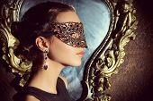 stock photo of masquerade mask  - Close - JPG