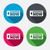 pic of joining  - Register now sign icon - JPG