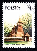 Polish stamp poster