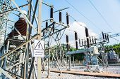 picture of electric station  - Power station for making the electric energy - JPG