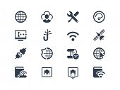 Постер, плакат: Internet service and internet provider icons